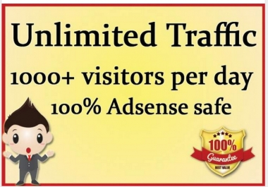 drive UNLIMITED Real Traffic for 60 days