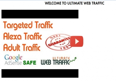 advert  Ultimate website traffic offers you high  quality