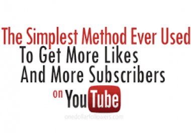 show you the EASIEST METHOD to increase your You Tube Likes, Comments, Views and Subscribers