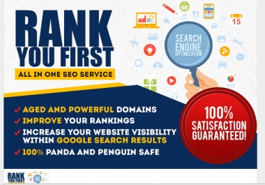 rank you High in Google with All in One Seo links for website and youtube