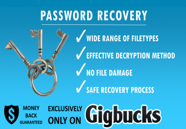 remove or decrypt your file from password