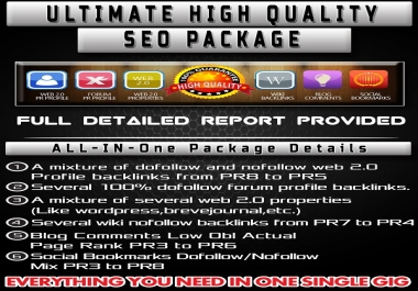 Shoot Your WebSite Into TOP Google Rankings With My All-In-One High PR Quality Backlinking Package