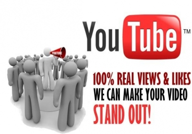 add 3000 VIEWS + 100 LIKES to YouTube Video