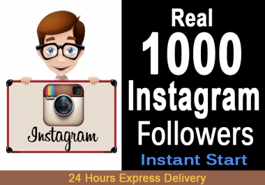 Give Real 1000 Instagram followers