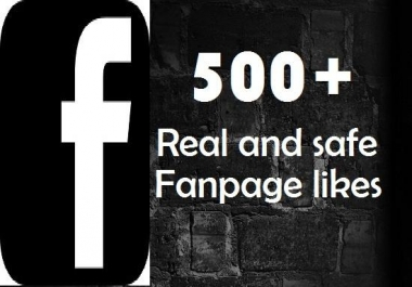 give 500 Facebook Fan Page Like ( Safe, Fast, Moneyback Guarantee )
