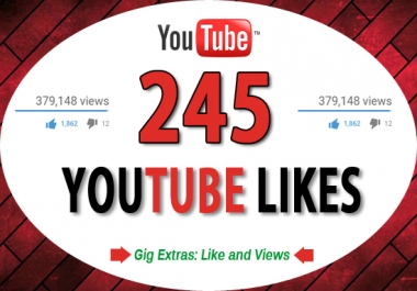 give 245 real youtube like