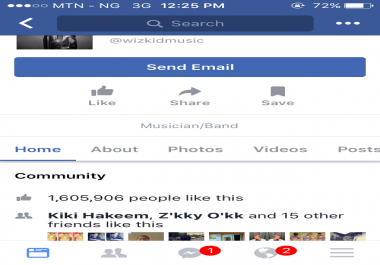 Give you 100likes on Your Facebook page
