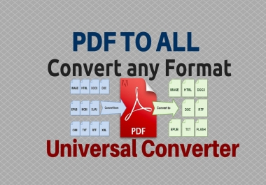 manually convert PDF to any file format