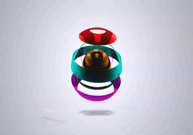 create five 3d ball animation hd intro  for your logo