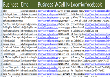 give targeted Email list of any Business