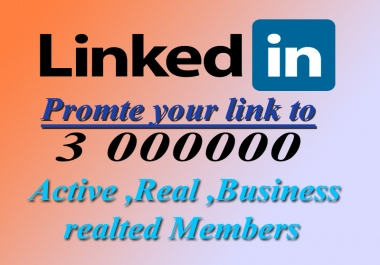 Promote Link to 3000000 Linkedin members