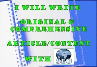 write original & comprehensive article content with SEO (min. 500 words)
