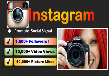 Promote Real Instagram-Followers(4000+) or Picture Like(12,000+) or Video View(12,000+)