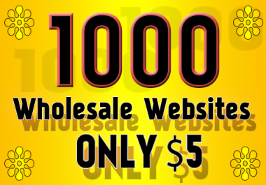 Give You 1000 Wholesale, Dropshipping and B2B Websites