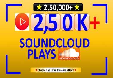 Give 250,000+ SOUNDCLOUD Plays, Non Drop in Your Track/Songs