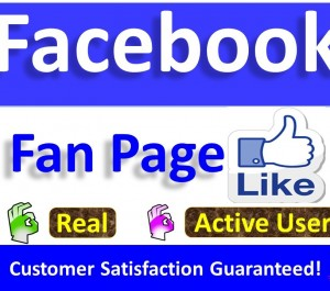 Get Instant 1000+ Facebook Fan Page Likes & Followers, Real Active Users non-drop Guaranteed