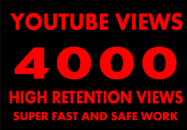 promote your Youtube video to 4000 real viewer