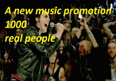 do AMAZING Music Promotion 1000 real people