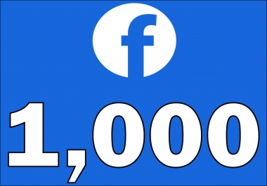 1,000+Instantly started Active Facebook Fan Page likes