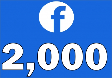 give 2,000+Instantly started Active Facebook Fan Page likes