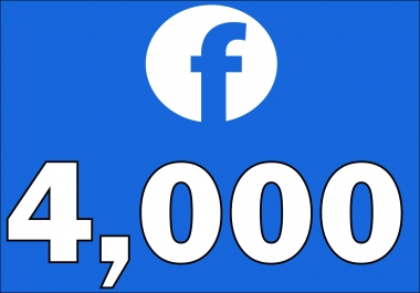 give 4,000+Instantly started Active Facebook Fan Page likes