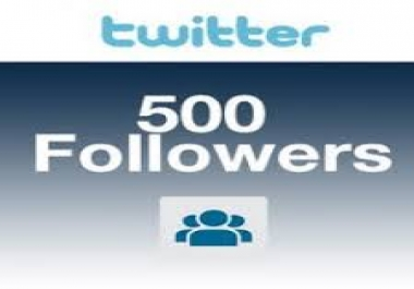 give you 500 Real and Genuine USA Twitter Followers instant only