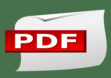 convert your text or ms word file into pdf format