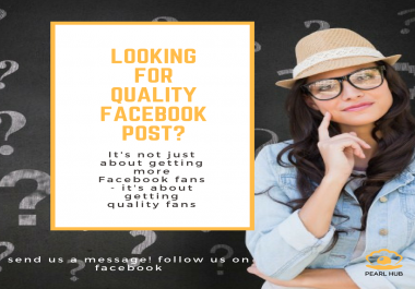 create four good facebook post for