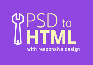 convert your psd to html only 24 hours