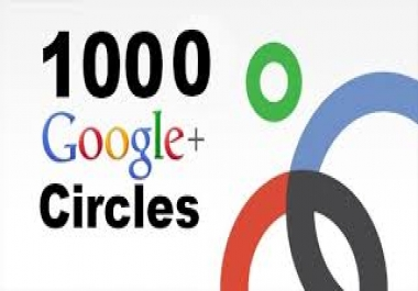 Give You 100% Real & Non drop 500+ GOOGLE Plus Followers