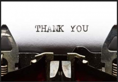 write a GREAT Thank you letter for any occassion