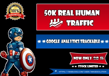 Drive 50K Google Analytics Trackable Visitor To Your Site