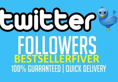 Provide you 5,000 twitter folowers within 24 Hours