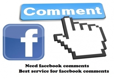 Manually post 100 USA  Facebook Comments