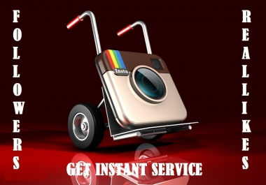 Start Instant 1500 HQ Instagram Followers or 3000 Likes or 3000 Views or 100 Comments