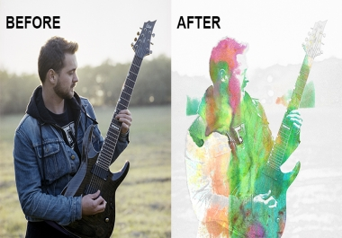 transform your photo into watercolor effect