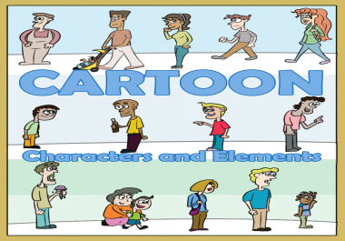 create a cartoon character and element