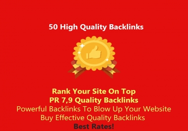 give ON TOP 50 High Quality Backlinks!