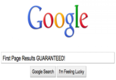 get your webpage in Google's first page, per month