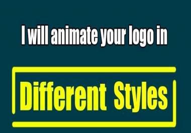 animate your logo in 10 styles