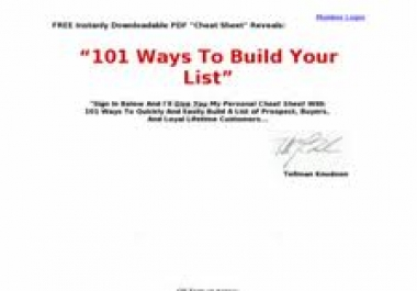 offer you a directory to show you 101 ways to build a huge list