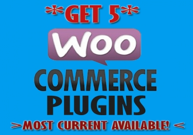 give 5 latest woocommerce and yith plugins, addons, extensions