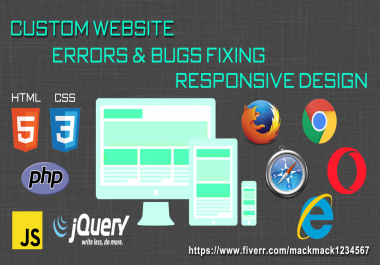fix web programming errors or bugs