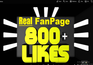 add REAL 1000 Facebook Likes