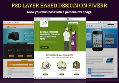 do web and Mobile page design in PSD