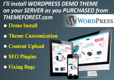 install any WORDPRESS theme exactly like its demo