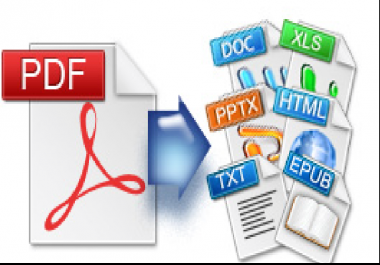 convert pdf to word, ppt, images, epub