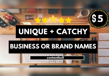 give you 10 business, brand, company names