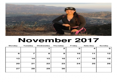 put your picture on a month calendar