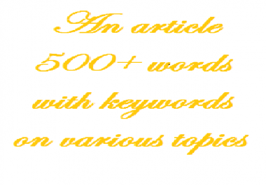 write a 500-word article with key words
